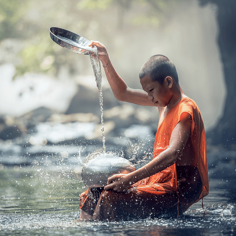 visit novice monks in thailand